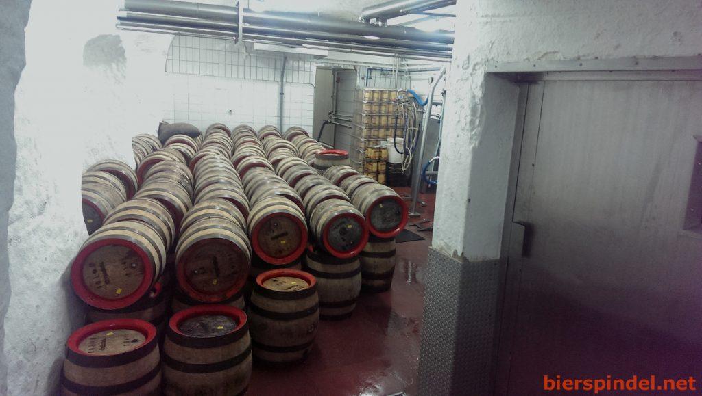Der Lagerkeller der Brauerei Heller (Schlenkerla)