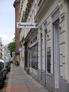 Der Biergreißler in der Nähe vom Theater in der Josefstadt