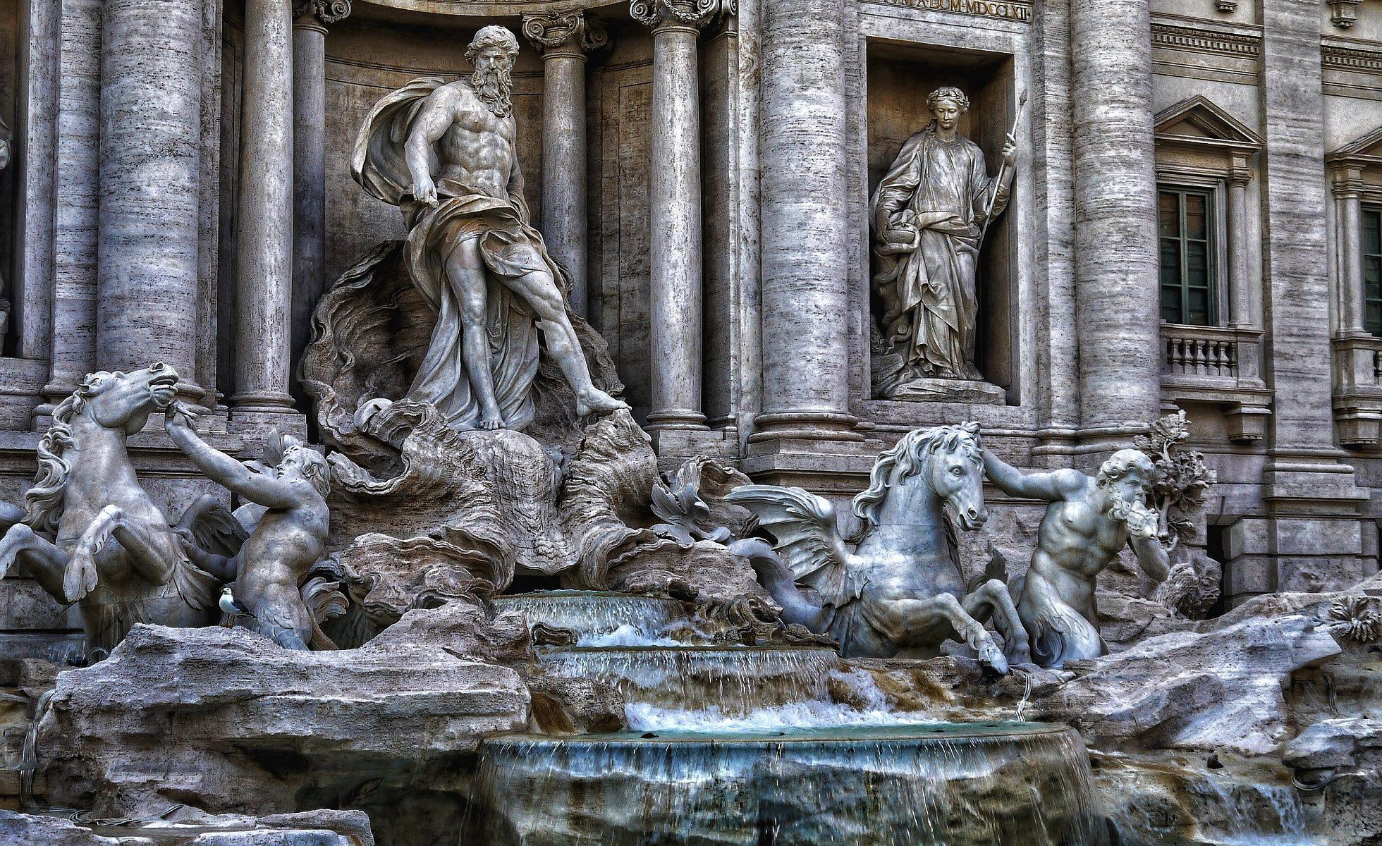 Der Trevi Brunnen - eine der bekanntesten Sehenswürdigkeiten Roms